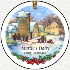 Martins Dairy & Silo Inn - 2008 Olney Ornament
